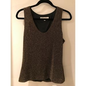 Vintage Metallic Gold Tank Top L